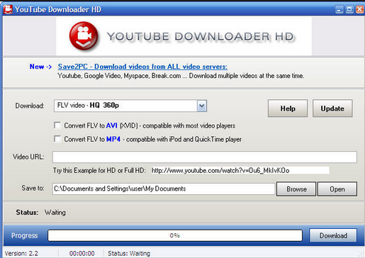 Screen short of Youtube Downloader HD 2.9.9.28