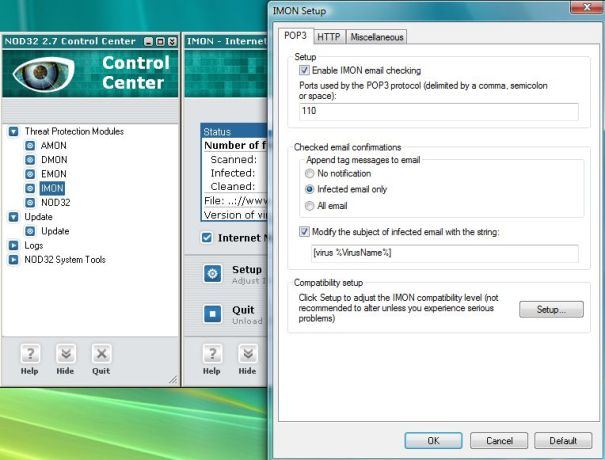 Screen short of ESET NOD32 Antivirus 10.0.369.0