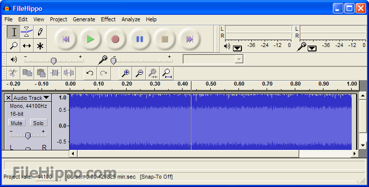 Screen short of Audacity 2.1.3 Alpha